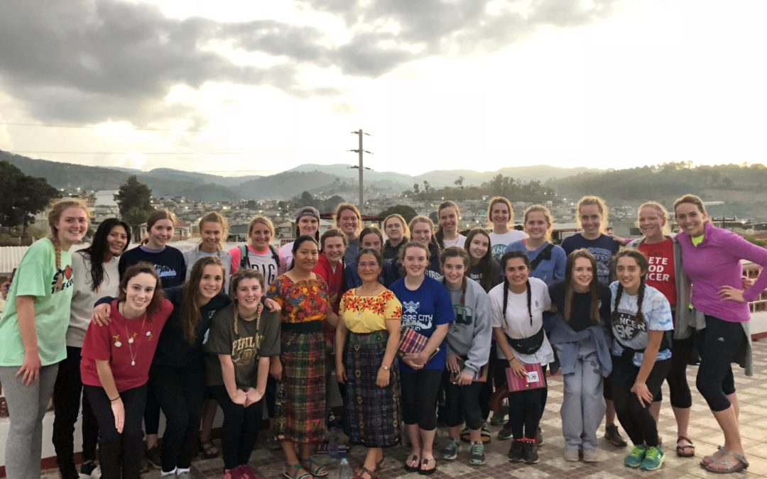 Srs. Clara and Alejandra Accompanying Sion School Class from Kansas City In Guatemala