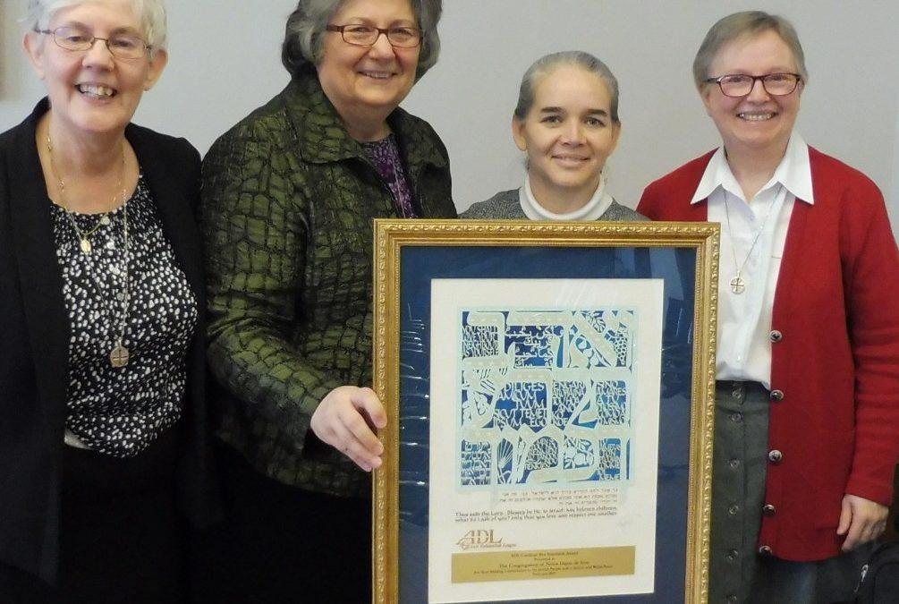 General House – Rome: The Congregation has been awarded the Cardinal Bea Interfaith Award