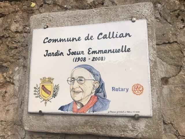 Le jardin de Sœur Emmanuelle, Callian, le17/10/2018.