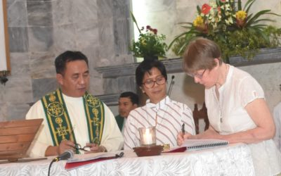 Celebration of final vows in the Philippines