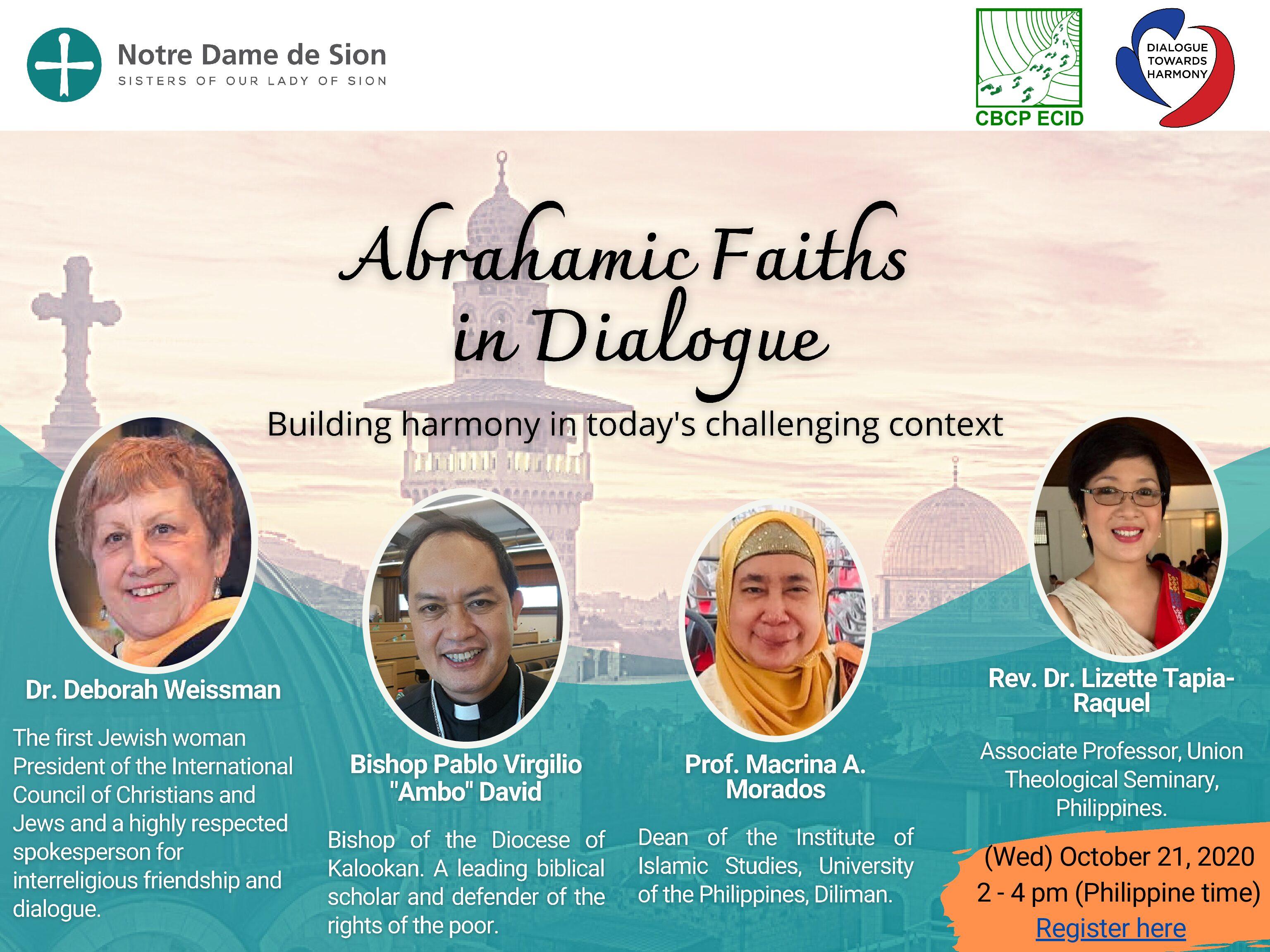 Webinar: Religiões Abrahâmicas em Diálogo