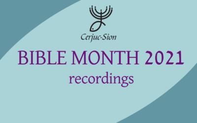 Cerjuc Bible Month recordings
