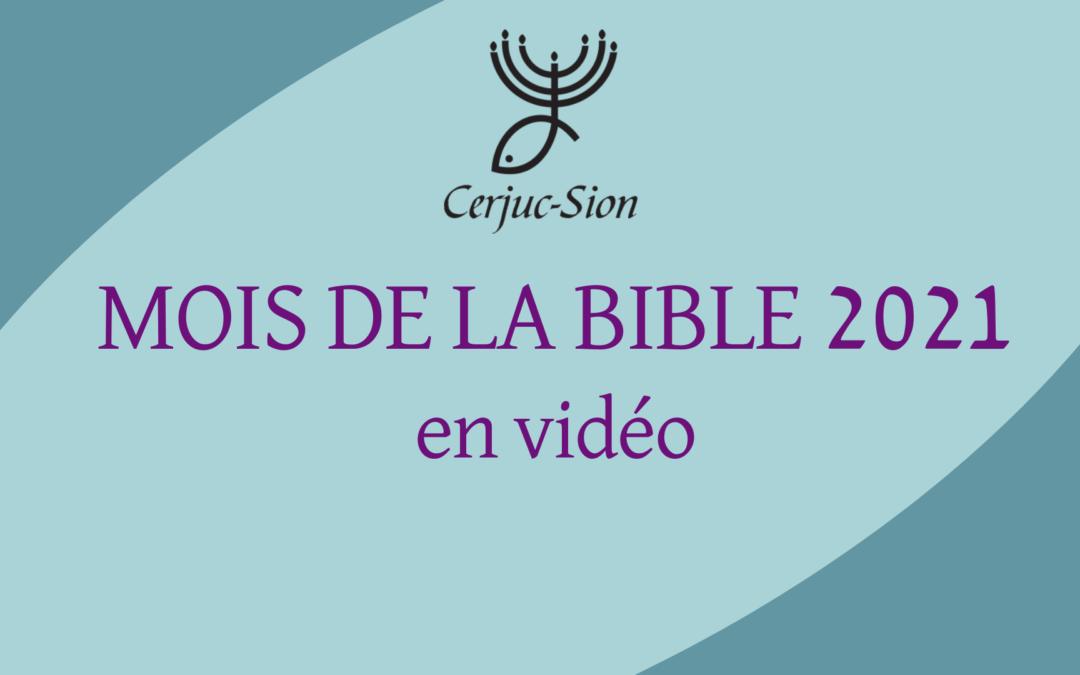 CERJUC – Mois de la Bible en vidéo